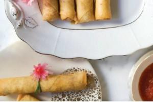 Spring rolls με γαρίδες