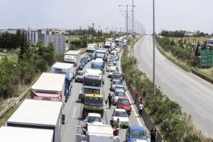Τροχαίο στην Εθνική οδό! Ουρές χιλιομέτρων