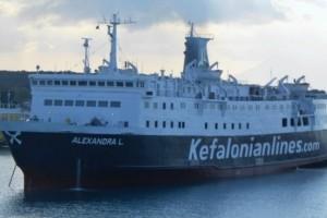 """Ζάκυνθος: Πρόσκρουση του """"Alexandra L"""" στο λιμάνι"""