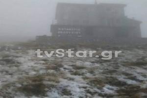Είναι γεγονός: Έπεσαν τα πρώτα χιόνια στη Στερεά Ελλάδα! (Video)