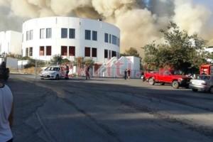 Ηράκλειο: Μεγάλη φωτιά μέσα στον χώρο του Πανεπιστημίου! (video)