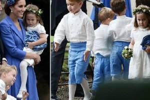 Έκλεψαν την παράσταση ο πρίγκιπας Τζορτζ και η πριγκίπισσα Σάρλοτ ως παρανυφάκια (video)