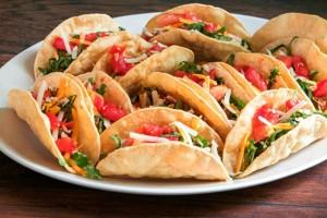 Γεμιστά mini tacos για τις λιγούρες!