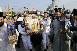Θεσσαλονίκη: Υποδέχθηκαν τον Τίμιο Σταυρό και την εικόνα της Παναγίας του Ορους των Ελαιών!