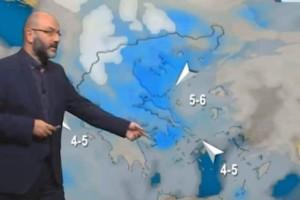 """""""Διαταραχή χειμωνιάτικου τύπου φέρνει στην Ελλάδα..."""" - Ο Σάκης Αρναούτογλου προειδοποιεί!"""