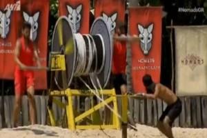 Nomads 2: Ούρλιαζε από τον πόνο! Ποιος τραυματίστηκε στο αγώνισμα; (video)