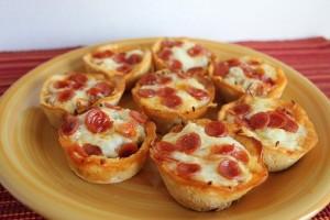 Πίτσα cupcakes με ψωμί ολικής!