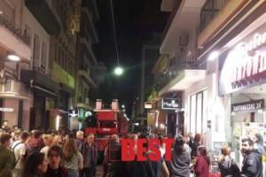 Φωτιά σε διαμέρισμα πολυσύχναστου πεζόδρομου στο κέντρο της Πάτρας