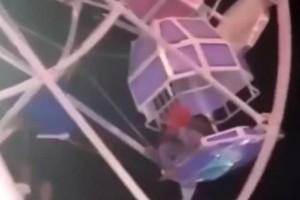 Βίντεο που κόβει την ανάσα: Οικογένεια έπεσε από ρόδα λούνα παρκ