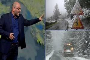 Έκτακτη ανακοίνωση από τον Σάκη Αρναούτογλου: Που θα χιονίσει τις επόμενες ώρες;