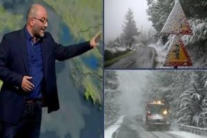Έρχονται χιόνια εντός της εβδομάδας: Ο Σάκης Αρναούτογλου προειδοποιεί!