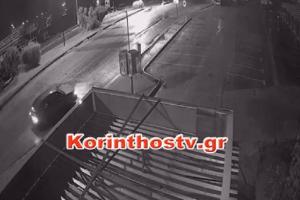 Απίστευτο κι όμως αληθινό: Κλέφτες... μπούκαραν με αυτοκίνητο σε περίπτερο στον Ισθμό της Κορίνθου