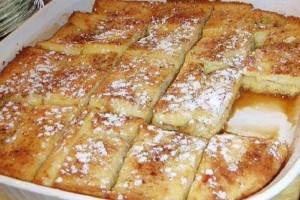 Εύκολο και νόστιμο πρωινό με ψωμί του τοστ στο φούρνο!