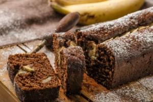 Σοκολατένιο κέικ με μπανάνες