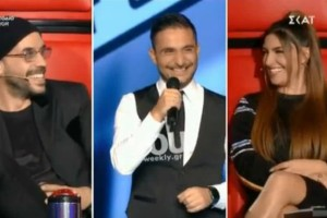 The Voice: Τα σχόλια Μουζουράκη - Παπαρίζου που έφεραν σε αμηχανία τoν παίκτη! (Βίντεο)