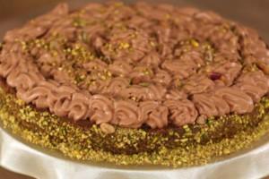 Κανταΐφι με κρέμα σοκολάτας