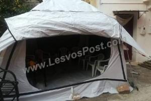 Λέσβος: Αστυνομικό τμήμα στεγάζεται σε... τσαντίρι! (photos)