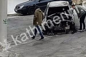 Βρέθηκε καμένο όχημα στα Πετράλωνα! Πιθανότητα να χρησιμοποιήθηκε από τους βομβιστές του ΣΚΑΪ