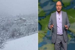 """""""Εφιαλτική μέρα το Σάββατο"""": Ο Σάκης Αρναούτογλου προειδοποιεί για τον χιονιά!"""
