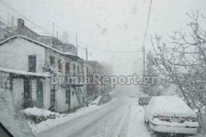 Άσπρισε όλος ο νομός Ευρυτανίας! Πυκνή χιονόπτωση (photos)