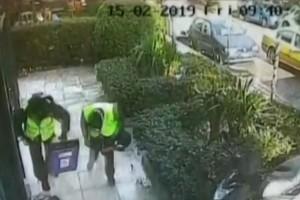 """Θρασύτατη ληστεία χρηματαποστολής στο Ψυχικό: Καρέ καρέ το """"χτύπημα""""! (video)"""