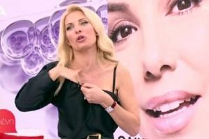 Κόλασε η Ελένη Μενεγάκη: Έβαλε το χέρι της μέσα από την μπλούζα και άρχισε να τρίβεται! (video)