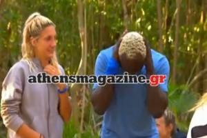 """Survivor: Κλάμα με το ροχαλητό του Ογκουνσότο! """"Καλημέρα Κατερίνα, γκιατί με κάνει και εσύ έτσι;"""" (video)"""