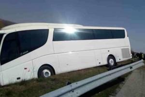 Ξάνθη:Τροχαίο με τουριστικό πούλμαν στην Εγνατία!