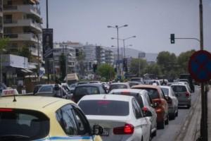 Προβλήματα στους δρόμους της Αθήνας: Μποτιλιάρισμα στην Κηφισίας- Μετ'εμποδίων η κίνηση των οχημάτων!