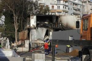 Φωτιά σε εργοτάξιο του Μετρό στη Θεσσαλονίκη!
