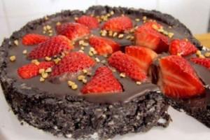 Σοκολατένια τούρτα στιγμής χωρίς ψήσιμο!