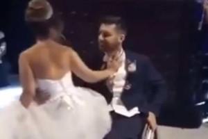 Γαμπρός με αμαξίδιο φιλάει τη νύφη και.. Κανείς δεν περίμενε αυτό που συνέβη μετά! (Video)