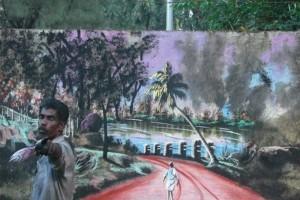 Αυτό θα πει τέχνη: Άστεγος ζωγραφίζει με φύλλα δέντρων και λάσπη! (Video)
