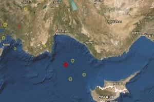 Σεισμός 3,8 Ρίχτερ ανάμεσα σε Κύπρο και Καστελόριζο!