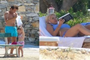 """Ματέο Παντζόπουλος - Ελένη Μενεγάκη: Έκανε τη νταντά στα παιδιά ενώ η ίδια """"άραζε"""" κάτω από τον ήλιο στην ξαπλώστρα της!"""