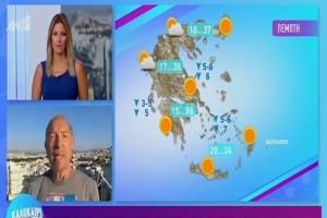 Τάσος Αρνιακός: Επιμένει η ζέστη! (Video)
