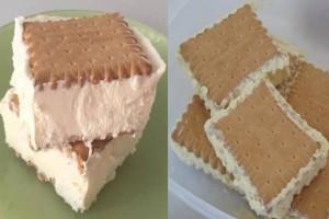Εύκολο παγωτό σάντουιτς, έτοιμο σε 20 λεπτά!