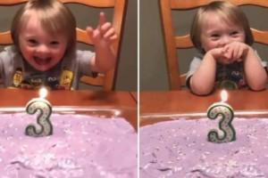 Αγοράκι με σύνδρομο Down σβήνει το κεράκι της τούρτας του και είναι ό,τι πιο γλυκό είδαμε σήμερα!