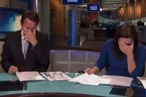 Γέλια μέχρι δακρύων: Διέκοψαν το δελτίο ειδήσεων γιατί δεν μπορούσαν να σταματήσουν!