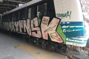 Έκαναν ξανά γκράφιτι στα βαγόνια στο μετρό της Θεσσαλονίκης!
