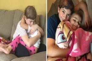 Αδέλφια παλεύουν μαζί με τον καρκίνο και μια φωτογραφία τους που είναι αγκαλιασμένα προκαλεί ρίγη συγκίνησης στο διαδίκτυο!