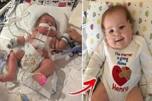 Γενναίο μωρό έκανε μεταμόσχευση καρδιάς και μετά από 10 μήνες στο νοσοκομείο, επιτέλους πάει στο σπίτι του!