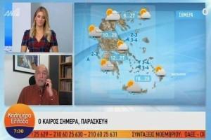 Τάσος Αρνιακός: Πρωινές ομίχλες, με τοπικές βροχές! Ποιες περιοχές θα επηρεαστούν από τα φαινόμενα;(Video)
