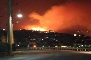 Η φωτογραφία της ημέρας: Τρομακτική πυρκαγιά στο Πόρτο Ράφτη!