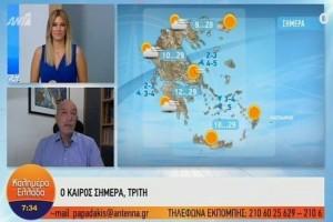 Τάσος Αρνιακός: Συνεχίζεται το καλοκαίρι! Μέχρι τους 29 θα φτάσει ο υδράργυρος! (Video)