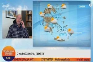 Τάσος Αρνιακός: Φθινοπωρινό το σκηνικό του καιρού! Αραιές νεφώσεις με τοπικές μπόρες! (Video)