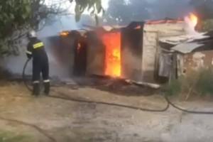 Φωτιά ξέσπασε σε στάβλο στην Καλαμάτα! (Video)