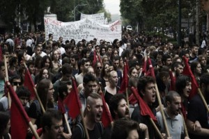 Κλειστό το κέντρο! Σε εξέλιξη  φοιτητικό συλλαλητήριο στα Προπύλαια! (photo)