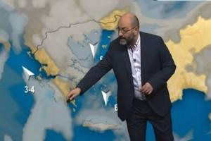 """""""Τεράστια προσοχή! Ισχυρές καταιγίδες και..."""" Ο Σάκης Αρναούτογλου προειδοποιεί για την κακοκαιρία! (Video)"""
