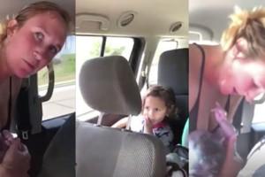 Γυναίκα γεννάει μέσα στο αμάξι μπροστά στα παιδιά της και συγκινεί! (Video)